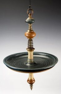 """Bird Bath"" Cynthia Carr, Crosswinds Pottery"