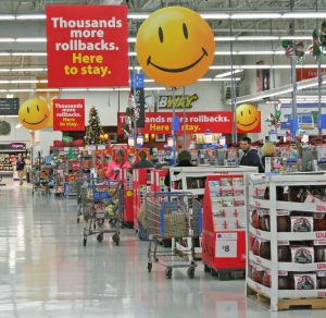 Kendra Peek/kendra.peek@amnews.com  Walmart aisles were calm and clean Black Friday morning, but shoppers said it had been much busier the night before.