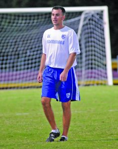 Photo by Matt Overing Alen Karapandzic graduated in 2008 after leading Danville to a region title in 2007. He joined the Ads' coaching staff this year and has been a big boost for the players on the team.