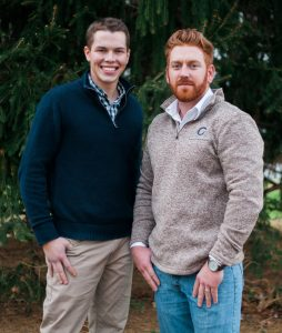 Photo submitted Jacob Stout, left, and Devin McCroskey, right, with Choice Contracting. The duo are once again giving away a free roof to someone in severe need.