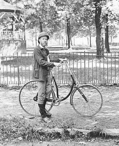 Frank Christman-bicycle bw