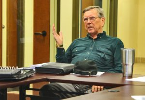 Ben Kleppinger/ben.kleppinger@amnews.com |  Boyle County Magistrate Jack Hendricks questions the need for a new master plan when there are other Parks and Recreation costs that have not been addressed.