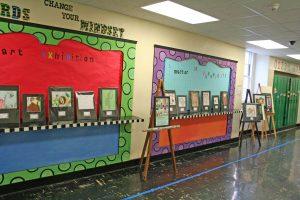Kendra Peek/kendra.peek@amnews.com The VSA traveling art exhibit at Toliver Elementary on Friday.